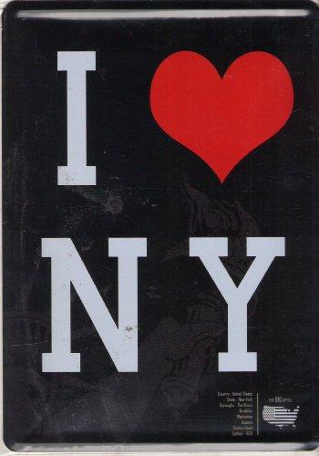 Plaque Metal Sérigraphiée 15x21cm I Love New York