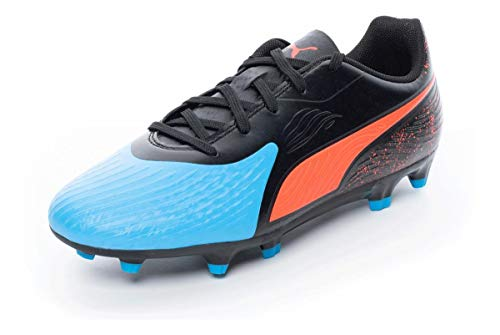 Puma Unisex ONE 19.4 FG/AG Jr Fußballschuhe, Blau (Bleu Azur-Red Blast Black), 37.5 EU
