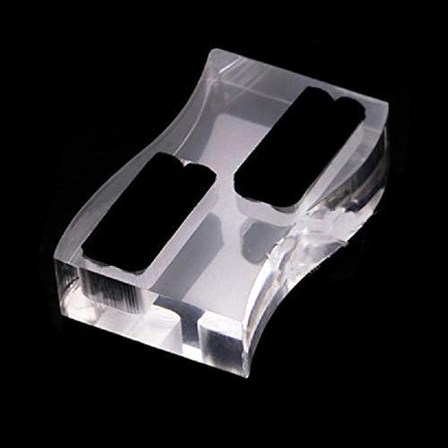 Soporte de joyería de acrílico transparente con forma de corazón y forma de S, para fotografía, anillos de exhibición de adornos para pendientes, anillos, collares, pulseras, prácticos y hermosos para