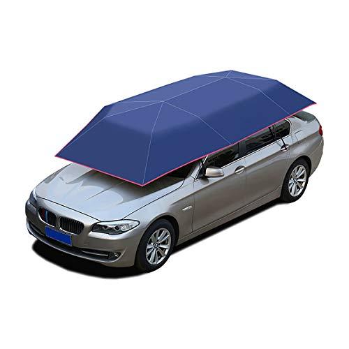 HIUHIU 400 * 210cm Car Umbrella Oxford Cloth Tricolor Reise Dach Automatikschirm Auto Regenschirm Abdeckung Zubehör,Blau
