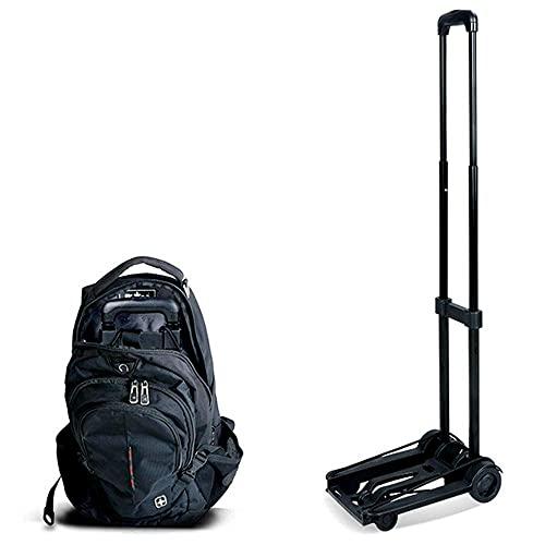 HIGHKAS Carro Plegable portátil, 35 kg Carro utilitario de Estructura sólida de 4 Ruedas para Trabajo Pesado, Equipaje, Uso Personal, Viajes, automóvil, móvil, Viajes y Compras