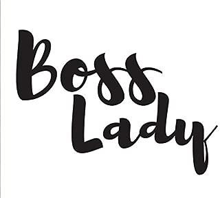 Boss Lady DECAL /_ Vinyl motivational STICKER for laptop journal or car.