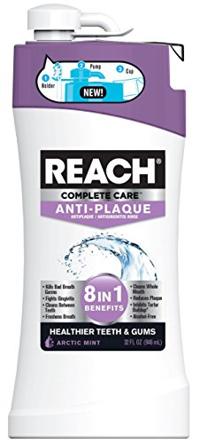 Reach Complete Care 8-In-1 Anti-Plaque and Anti-Gingivitis Mouth Rinse, 32 Fl. Oz./946 mL, Pack of 4