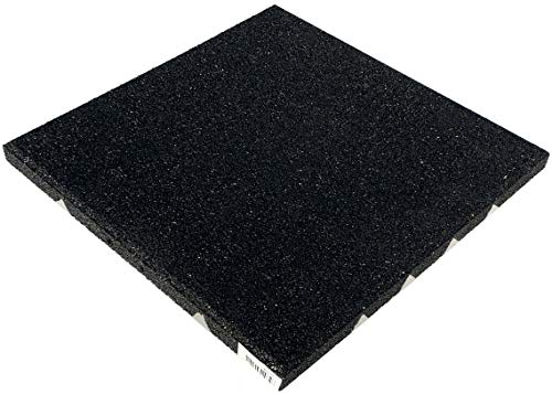 Aslon Zwart Rubber Speeltuin Tegel - 400x400x25mm