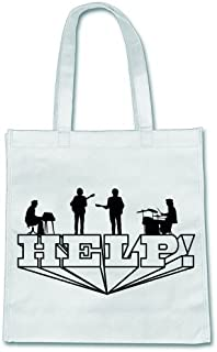 Beatles-Help! on White Canvas Bag
