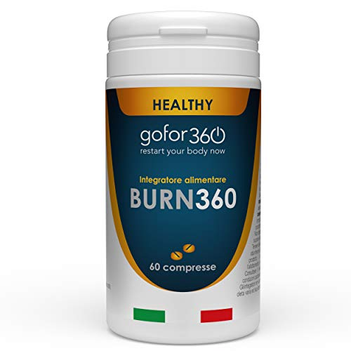 BURN360 / Ingredienti naturali e concentrati per aiutare il metabolismo dei lipidi, ridurre lo stimolo della fame e per drenare i liquidi corporei / Gofor360