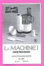 Moulinex LaMachine I Food Processor Manual & Recipe Booklet