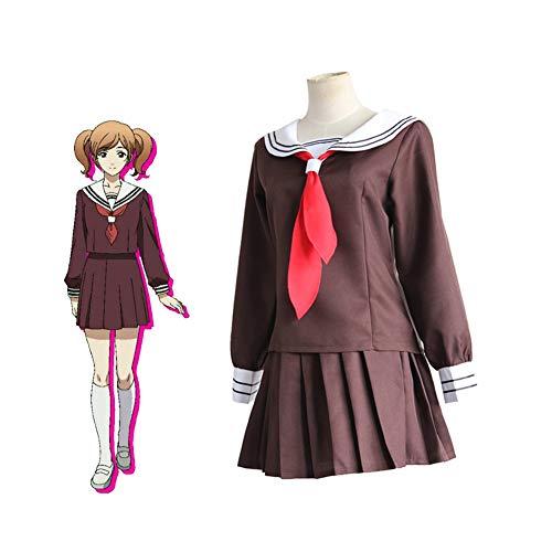 CGBF Disfraz de anime de Sakamoto Aina Kuronuma para cosplay con falda plisada para marinero, uniforme escolar, color marrn, XL