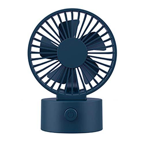 Yosemite Ventilador de escritorio USB con pilas Mini ventilador con 3 engranajes de viento fuerte de alta calidad ABS ventilador de mesa ajustable para oficina - azul oscuro
