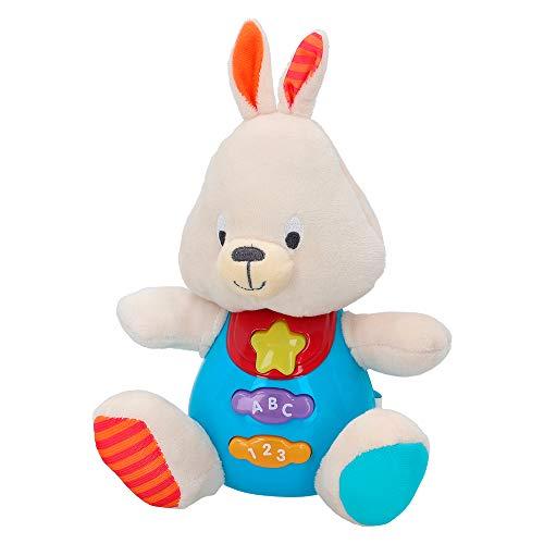 winfun - Peluche Conejo para bebés que habla y luces de