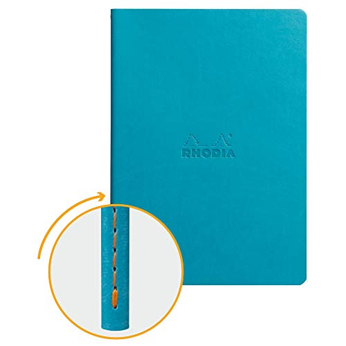 Rhodia Sewn Spine Notebook, A5, Dot - Turquoise Blue (116457C)