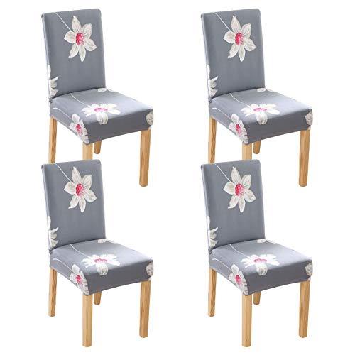 LYY Funda moderna para silla, funda de silla de comedor, 4 fundas para silla de comedor, con banda elástica universal