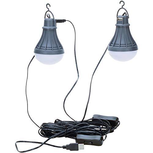 OZtrail Kit d'Eclairage LED vers Luisant - 220gr - 120 Lumens - Prises USB internes pour Relier Plusieurs Lampes Ensemble GCL-GWLK-D Le kit Comprend Deux Ampoules