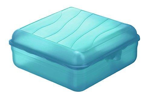 Rotho Funbox Vesperdose 2 .35 l, Kunststoff (BPA-frei), blau, 2.35 Liter (20 x 19,5 x 8 cm)