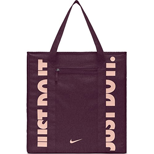 NIKE Gym Women's Training Tote Bag, Bordeaux/Bordeaux/Storm Pink, One Size