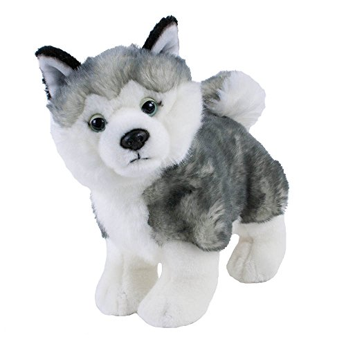 Kuscheltier Hund Husky klein stehend, 25 cm, Plüschhusky, Stofftier, Plüschtier