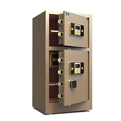 MAATCHH Caja Fuerte de Gabinete Caja de la Cerradura de Depósito Digital Doble Puerta de Caja Fuerte Drop Box Caja de Seguridad del Ministerio del Interior de Bloqueo del Arma para el Negocio en casa