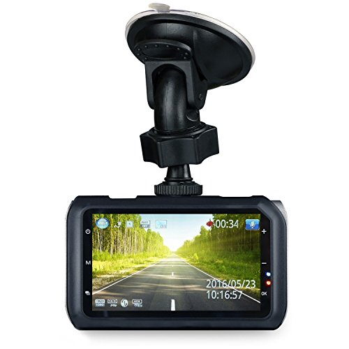 Z-EDGE Z3 Car Dash Cam 3 inches 2K Dashboard Camera Recorder with 32GB SD Card, Ambarella Chip, HDR,...