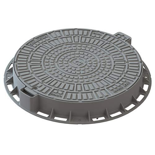 Tapa alcantarilla plastica Diametro 600mm color gris Clase de carga A15