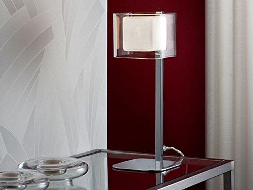 DECORACIÓN BELTRÁN - Lámparas de mesa modelo CUBE cromado