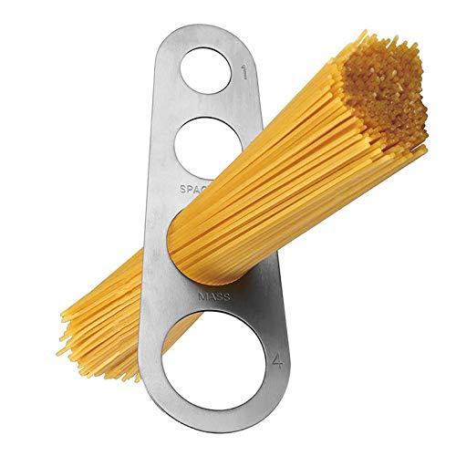 Tomedeks Spaghettimaß aus Küchenhelfer Werkzeuge Edelstahl Pasta Maßnahme Mit 4 Messlöchern