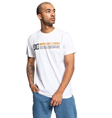 DC Shoes Butainer-Camiseta para Hombre, Snow White, M