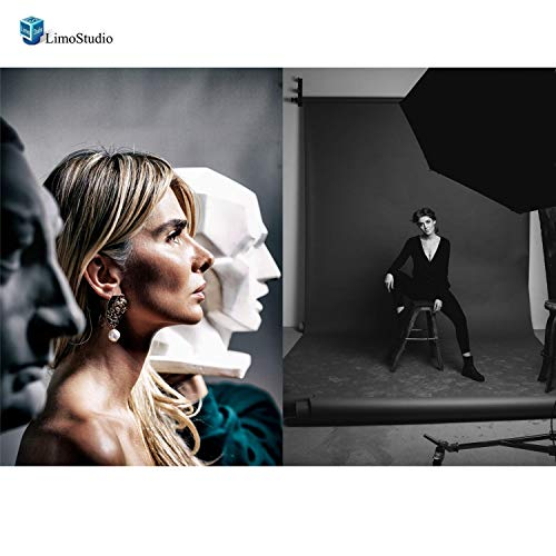 LimoStudio 2 x 33 Double Layer Black/Silver Photo Studio Reflector Umbrella, AGG127