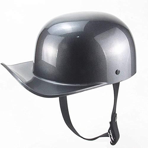 Medio casco de motocicleta,Motocicleta estilo retro Medio casco ABS para motociclista Biker Ridder Universal lavable ECE Homologado Casco Moto AbiertoMedio B,L(56~58cm)