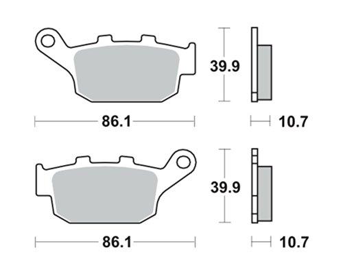 Garnitures de frein TRW MCB 585 pour HONDA CBR 250 R, RR MC19/MC22 88-94 (arrière)
