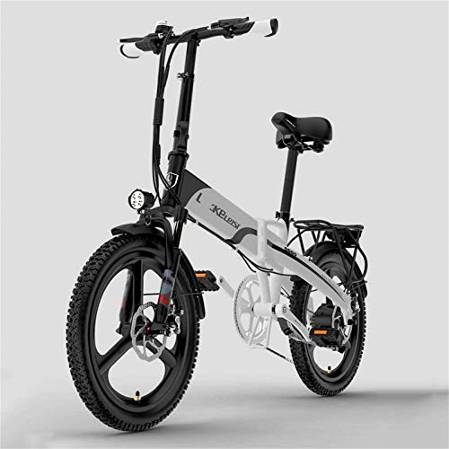 Fangfang Bicicletas Eléctricas, Bicicleta Plegable eléctrico for Adultos, 400W Motor Urban Commuter...