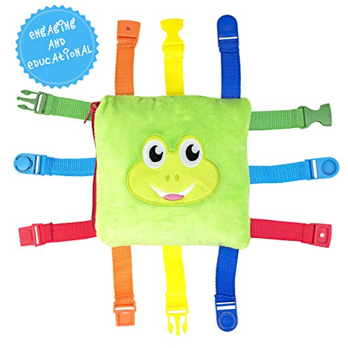 Freddie The Frog Clip Game, Children, Baby Toddler Educational Learning, Game, Buckle, Plush Soft Travel Toy,