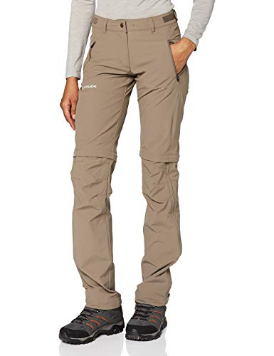 VAUDE Damen Hose Women\'s Farley Stretch ZO T-Zip Pants, Coconut, 40, 401445090400
