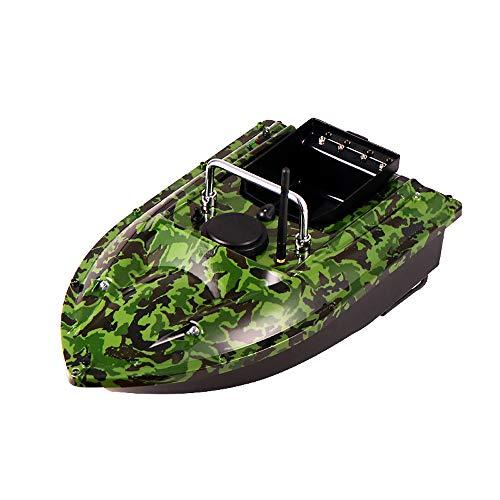 Huhu833 Fischfinder Futterboot, 500M 2,4 GHz Angeln RC Boot Ferngesteuertes Fischerboot für Pools und Seen, Fischköder 1.5kg, Wasserdicht Schiff Ferngesteuert Bait Boat mit Doppelmotor (Tarnung)