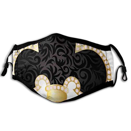 Máscara cómoda a prueba de viento, imagen de diseño de insignia de la familia Royal Legend Lily Throne France, decoración facial impresa para adultos unisex