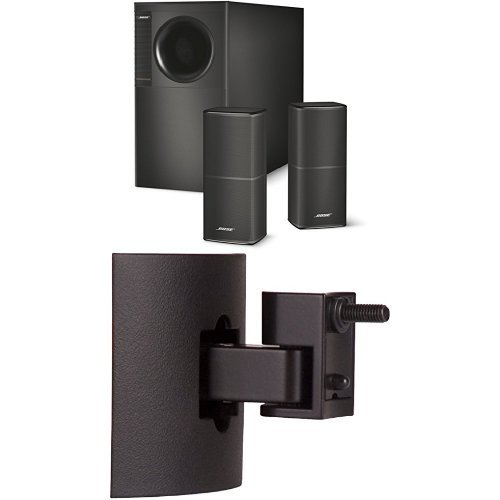Bose Acoustimass 5 Series V système d'enceintes stéréo Noir + Support mur/plafond Bose UB-20 série II Noir