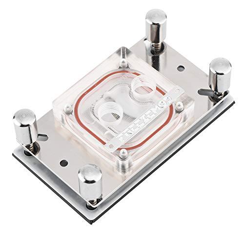 Oumij1 Bloque de refrigeración por Agua para CPU de computadora - Bloque de Agua con Base de Cobre con microcanal - Disipación de Calor rápida - para CPU AM2 / AM2 + / AM3 / AM3 + / AM4 / FM2 +