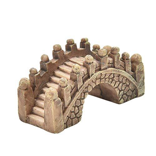 Ogquaton1,5 * 2 * 4,5 cm Miniatur Stein bridgeMiniature Fairy Garden Bridge Ornament DIY Dollhou Langlebig und nützlich
