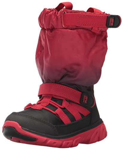Stride Rite Boys' Made 2 Play Sneaker Boot Snow, Red/Black Fade, 1 M US Little Kid