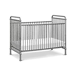 Million Dollar Baby Classic Abigail 3-in-1 Convertible Crib in Vintage Silver