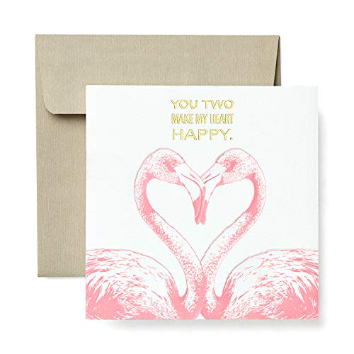 American Greetings Funny Flamingos Greeting Card for Couple - Engagement, Wedding, Anniversary