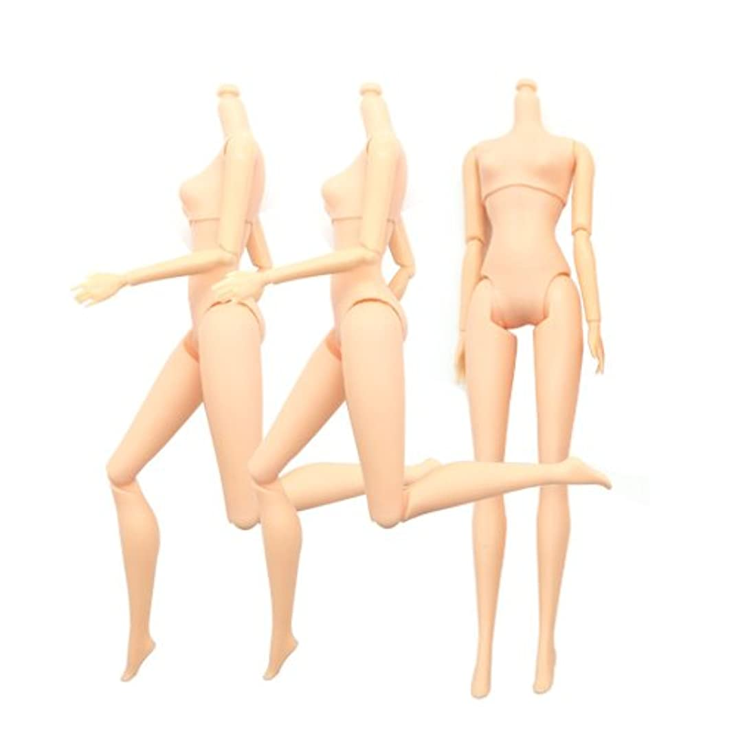 SuperMMarK 3Pcs 11-inches 12 Jointed Movable Naked Female Doll Body Parts for Cake Baking