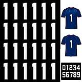 25 Piezas Números Planchados Números de Transferencia de Calor Letras Planchadas de 8 Pulgadas para Uniforme de Equipo Camiseta Deportiva Fútbol Baloncesto Béisbol (Blanco 1)