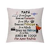 Funda de Almohada para papá Apreciar a Súper Papá Cumpleaños Regalo del día del Padre Apreciar...