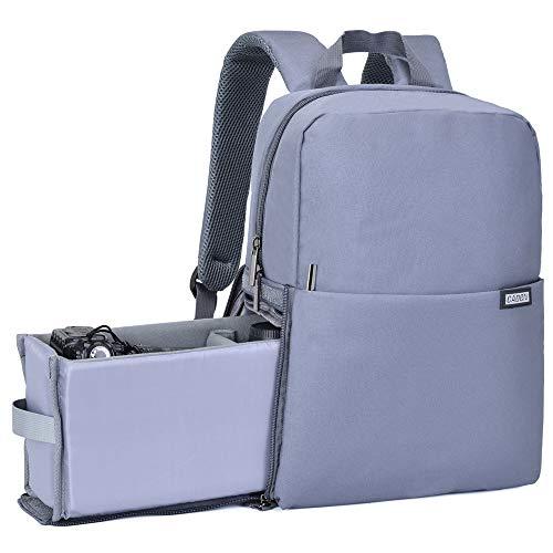 CADeN Kamerarucksack, Wasserabweisend Kameratasche Dual Use SLR Bag Diebstahl Fotorucksack Kompatibel mit spiegelreflexkamera Canon Nikon Sony 14'' Laptop Stativ(Dunkelgrau)