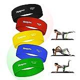 Haquno Bandas Elasticas[5Pcs],Banda de Fitness de Tela con múltiples Niveles de Resistencia, Adecuada para Ejercicios de Corta Distancia, Yoga, Pilates, Gimnasio (Color)