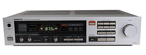 Onkyo TX-100 Stereo Receiver in silber