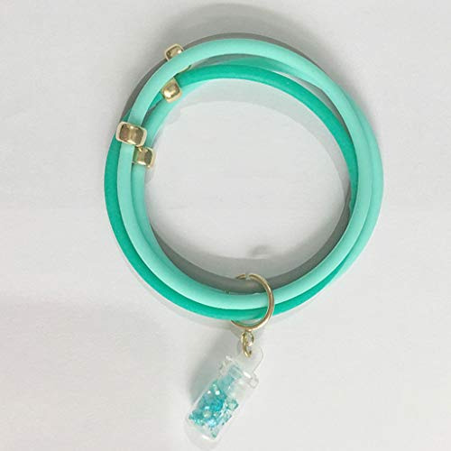 Muggenafstotende Armbanden Afstotende Band Waterdichte Mode Outdoor DEET Gratis Anti Insect Bands Plant etherische olie Past Alle Zwangere & Vrouw (Ocean Green)