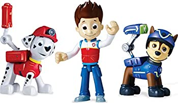Paw Patrol Action Pack Pups Figure Set 3-Pack Ryder Chase and Marshall