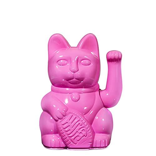 DONKEY Lucky Cat Special Edition   Miami Nights Glossy Pink - Glänzend Pinke Winkekatze in hochwertiger Geschenkverpackung