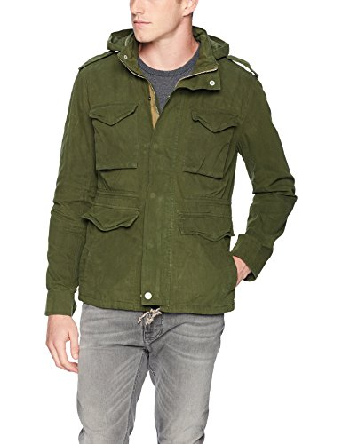 Lucky Brand Men's Waxed M-65 Field Jacket, Green, XL
